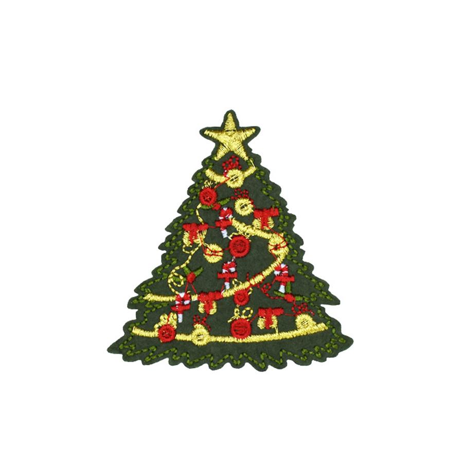 10 PCS Cute Embroidery Christmas Tree Patch Badge for Kids Iron on Transfer Embroidery Patch for Clothes Jacket Scarf Hats Sew Accessories