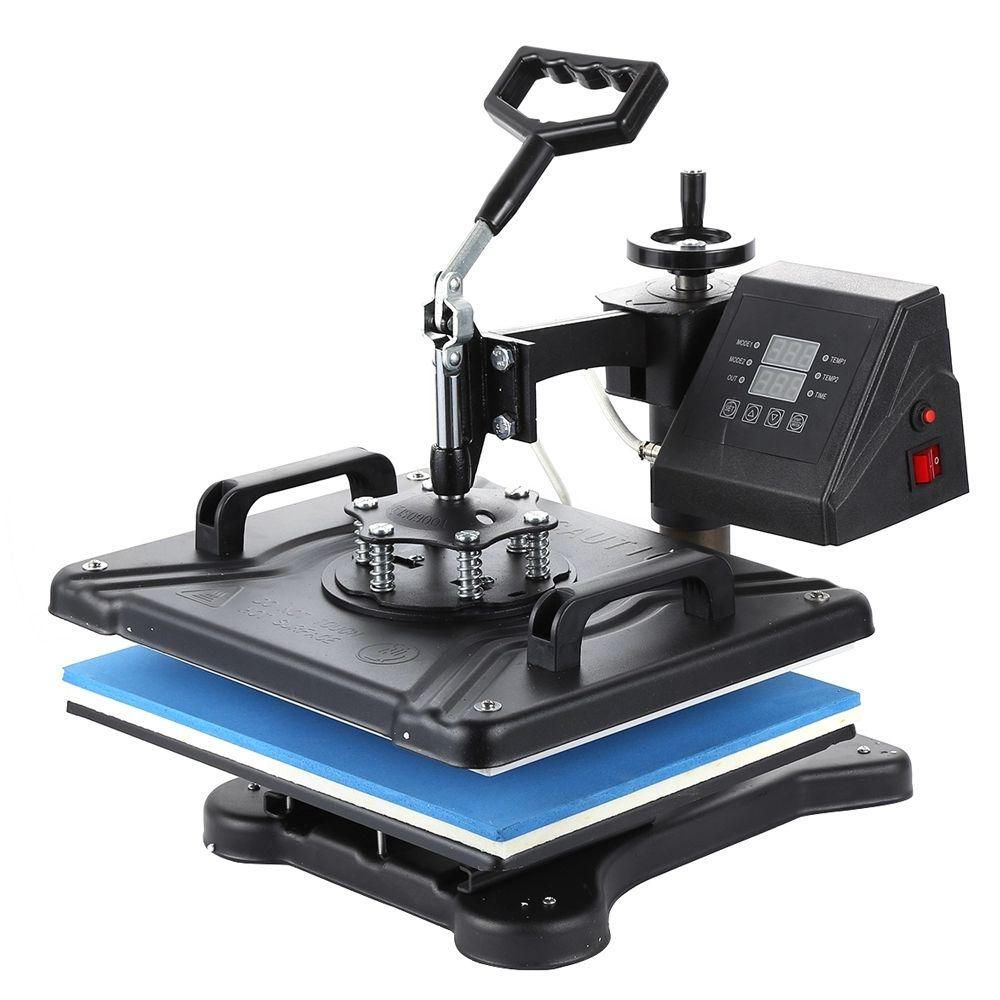 عرض مزدوج 3038 سنتيمتر 5 في 1 كومبو الحرارية تي شيرت الحرارة الصحافة آلة التسامي الطابعة لوحات / كاب / القدح / الهاتف / القلم / صخرة / مدمجة