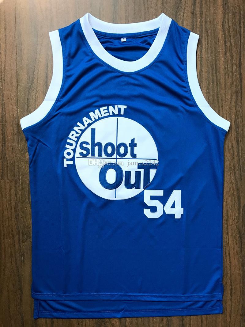 Kyle Watson # 54 Above The Rim Turnier ShootOut Film Männer Basketball Jersey nähte Blau-freies Verschiffen
