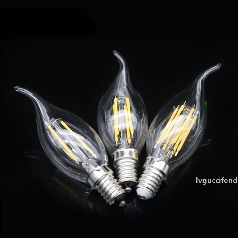 LED Ampul İmitasyon Tungsten Ampülle Retro Şeffaf Mumlar Işık Torpido Şekli Filament Blister Yüksek 5. sınıf 5yg3 ff
