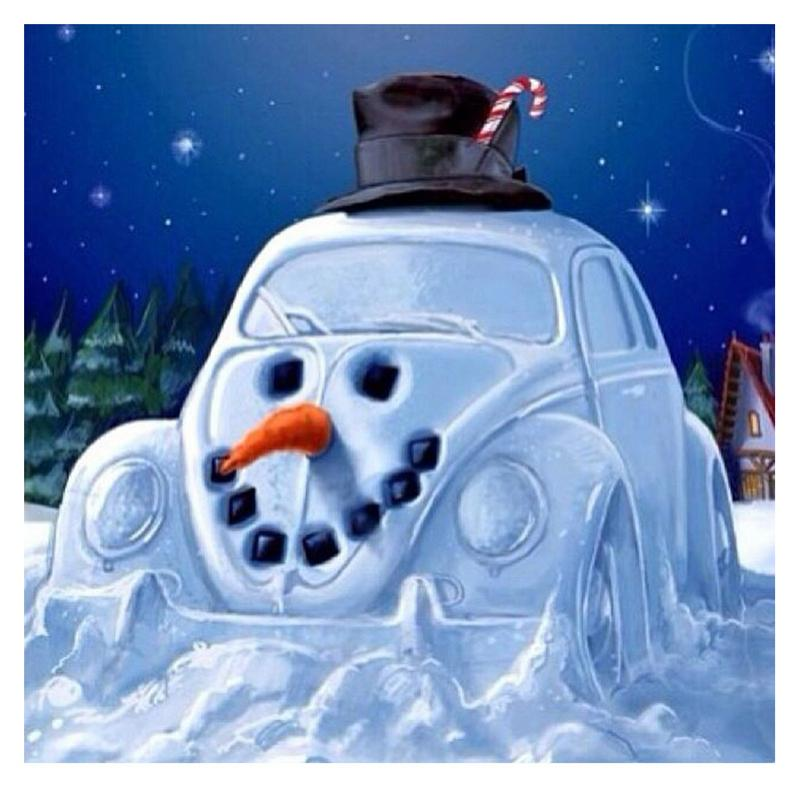 Broca Snowman carro cheio 5D diamante redondo Rhinestone Bordados Pintura DIY Cross Stitch Kit Mosaic Desenhe Home Decor presente