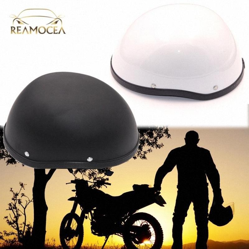 Reamocea Motosiklet Kaskı Açık Yüz Motorlu Kask Vintage Retro Stil Kasko Scooter Kask Yarım Kafatası Cap Şapka İçin YJsO #