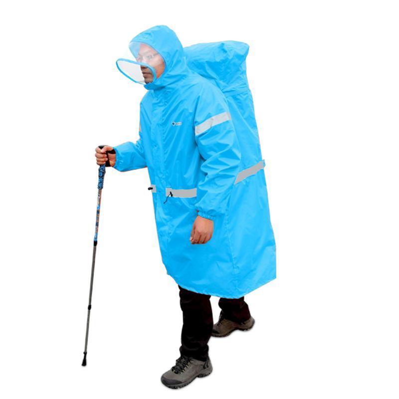 Открытый куртки 4 сезона Плащ рюкзак Крышка рюкзак цельный пончо дождь накидка на мыс, альпинизм охотничьи пеший лагерь унисекс пальто воды