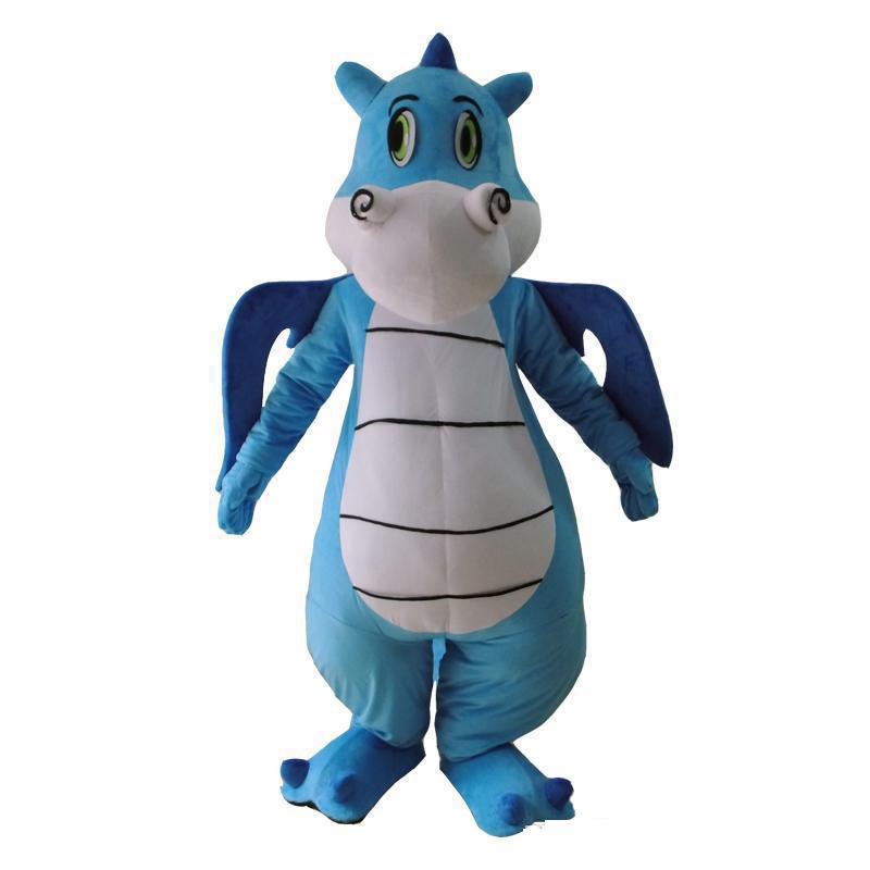 2020 Sıcak satış yeni Karikatür Ejderha Dinozor Yetişkin için Maskot Kostüm Karnavalı Festivali Parti Elbise Kıyafet