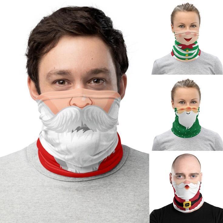Christmas Face Shield Бандана маска спорта на открытом воздухе Бандана маска Магия платке Повязка Козырек шеи Gaiter Рождественские украшения Подарки