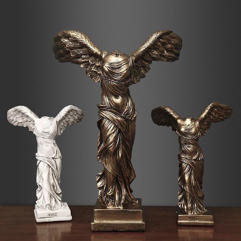 Europea diosa Victoria figuras como la escultura de resina artesanal casa decoración de habitaciones Adornos de las estatuas de regalos adornos de negocio