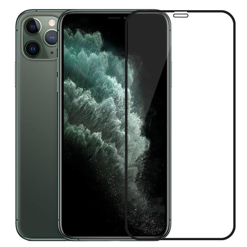Temperli cam Tam Kapsam Kapak Kavisli Ekran Koruyucu Anti-Scratch Film Guard iPhone 12 Mini 11 Pro Max XS XR X 8 7 6 6S Artı GD