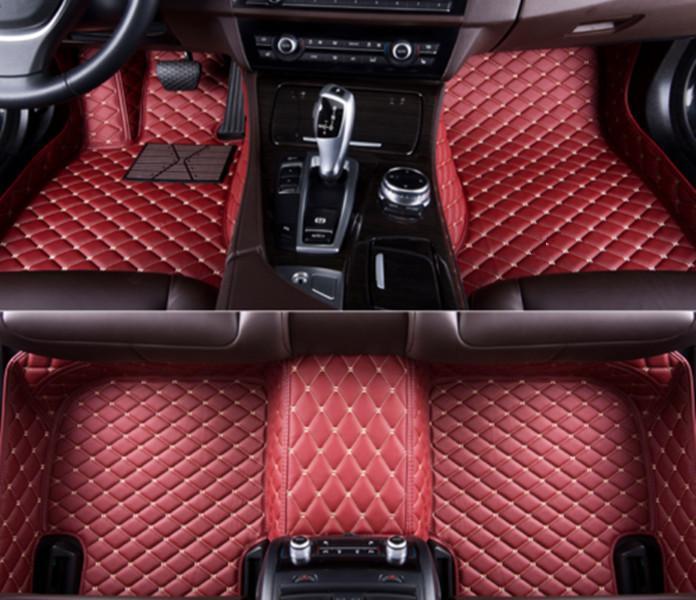 Pour 2014-2019 Lincoln MKZ cuir noir 1er rang 2e Ensemble complet Tapis de sol Liner