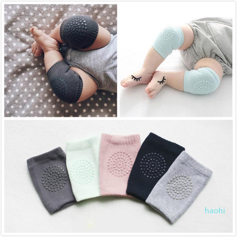 Wholesale- New Baby Safety Cotton Knee Pad Elastic Children Sports Knee Guard Protector Kids Crawling Tape Leg Warmers Baby Care Product
