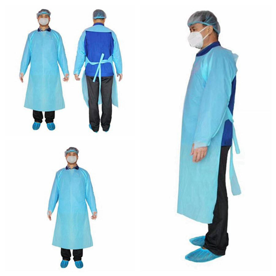 CPE Protective Clothing Disposable Isolation Gowns Clothing Suits Anti Dust Outdoor Protective Clothing Disposable Raincoats RRA3330