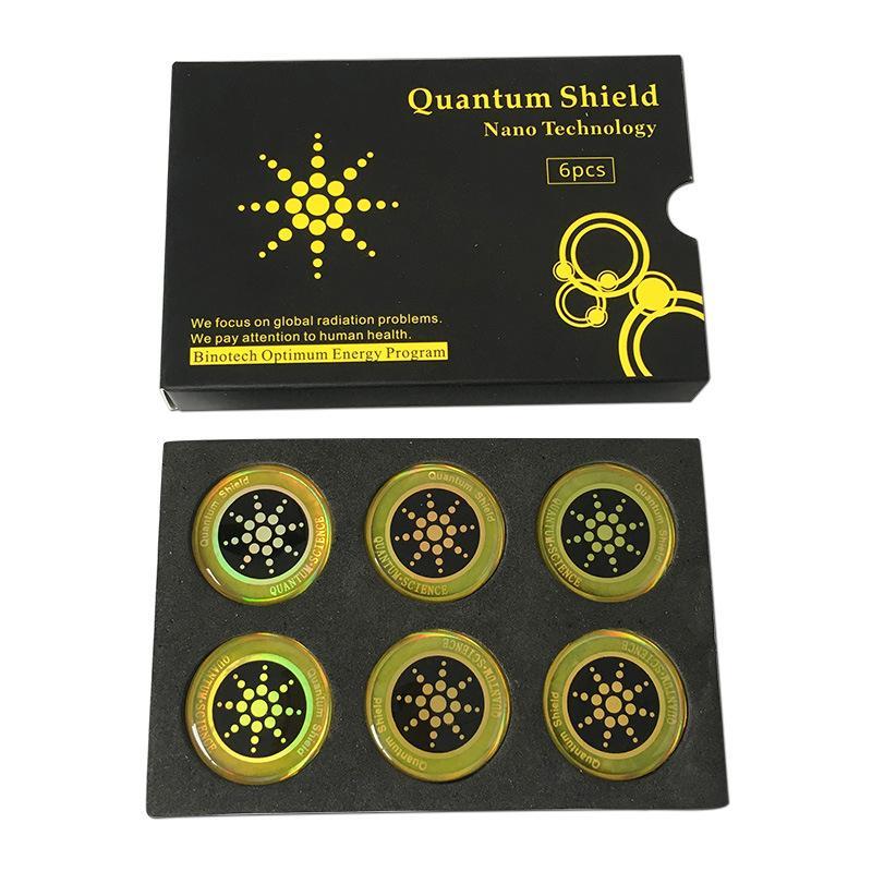 Квантовый наклейки Щит мобильный телефон наклейка для сотового телефона против радиационной защиты от ЭМП Fusion Excel антирадиационного 6pcs / коробка