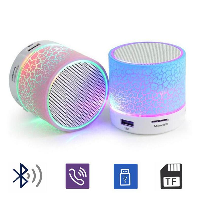 LED, Bluetooth Hoparlör A9 stereo mini Hoparlörler Huawei için portatif mavi diş Subwoofer Subwoofer müzik usb çalar dizüstü Speaker bluetooth