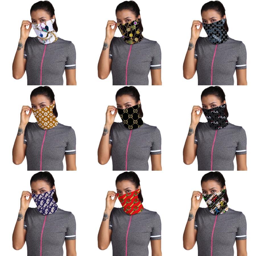 I Cant Designer Stampato Sciarpa riutilizzabile lavabile maschera di protezione del tessuto della mascherina protettiva traspirante maschera di comodo # 696 # 712 # 786