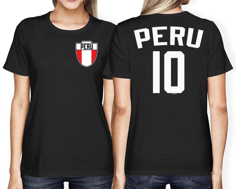 2020 Vente chaude T-shirt T-shirt de mode Pérou Soccers Footballeur Crest Country Pride Femmes