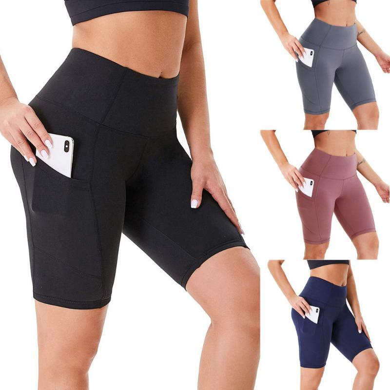 Yoga Outfits Sommer Frauen Shorts Hohe Taille Nahtlose Hip-up Tight Elastic Sport Push Up Laufen Fitness Gym Kleidung 2021
