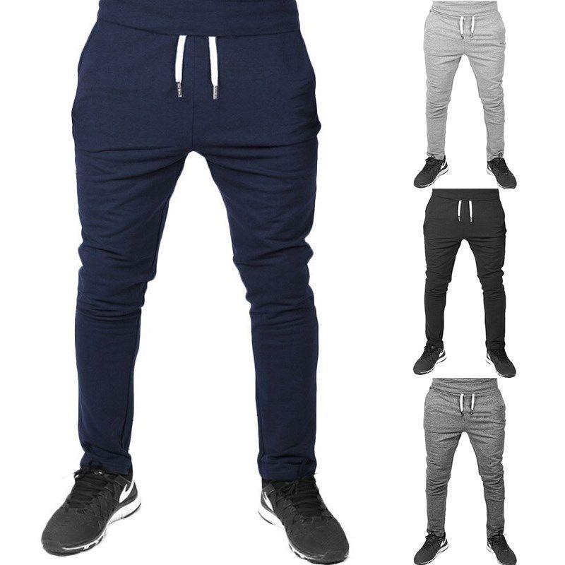 الرجال السراويل بالجملة 2021 الخريف بلون بلون مع الهيب هوب نمط خياطة عارضة pantalones hombre