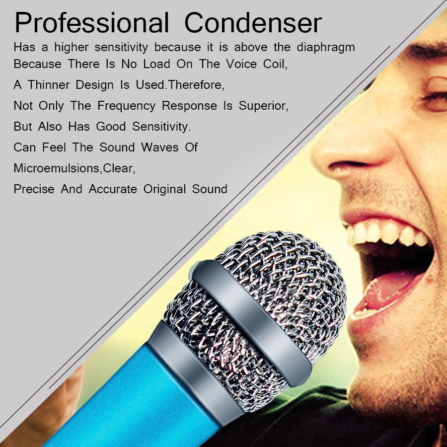 Mic tenuto in mano portatile mini stereo da 3,5 mm Studio microfono per il PC desktop microfono KTV Karaoke 5,5 centimetri * 1,8 centimetri
