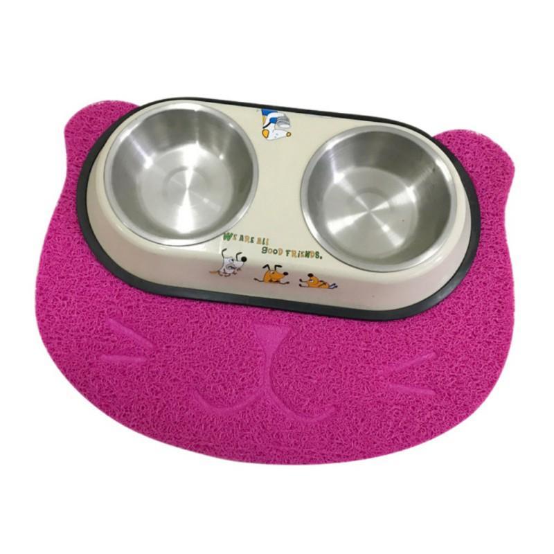 PVC-Haustier-Katze-Toiletten-Matte Pad Startseite Wasserdichtes Kitten Feeder Mats Katzentoilette Trapper Einfache Reinigung Matte für Heimtierbedarf H1