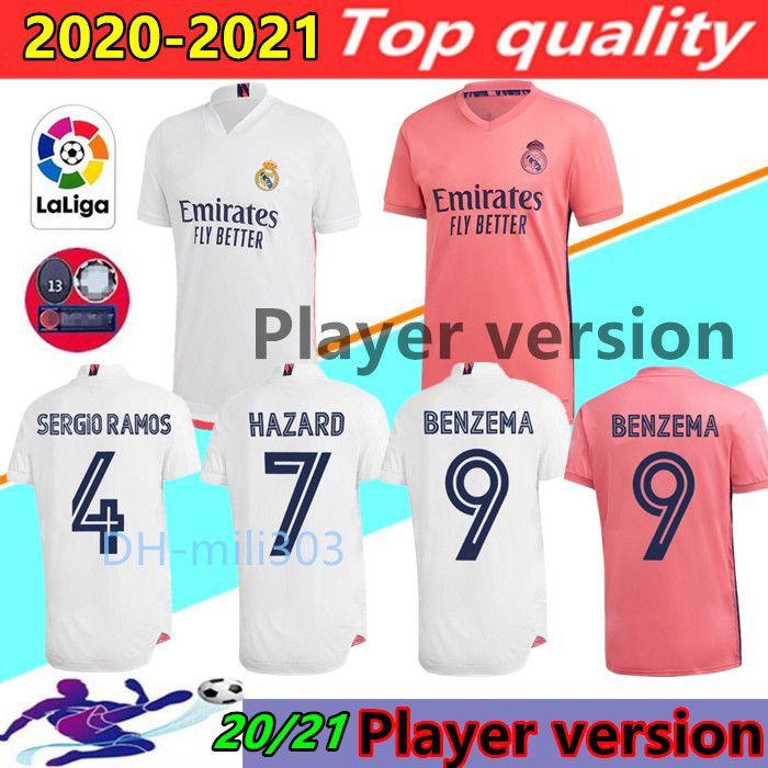 플레이어 버전 축구 유니폼 레알 마드리드 20 21 위험 JOVIC 벤제마 camiseta 드 푸 웃 2020 2021 비니 RODRYGO 모드리치 축구 셔츠