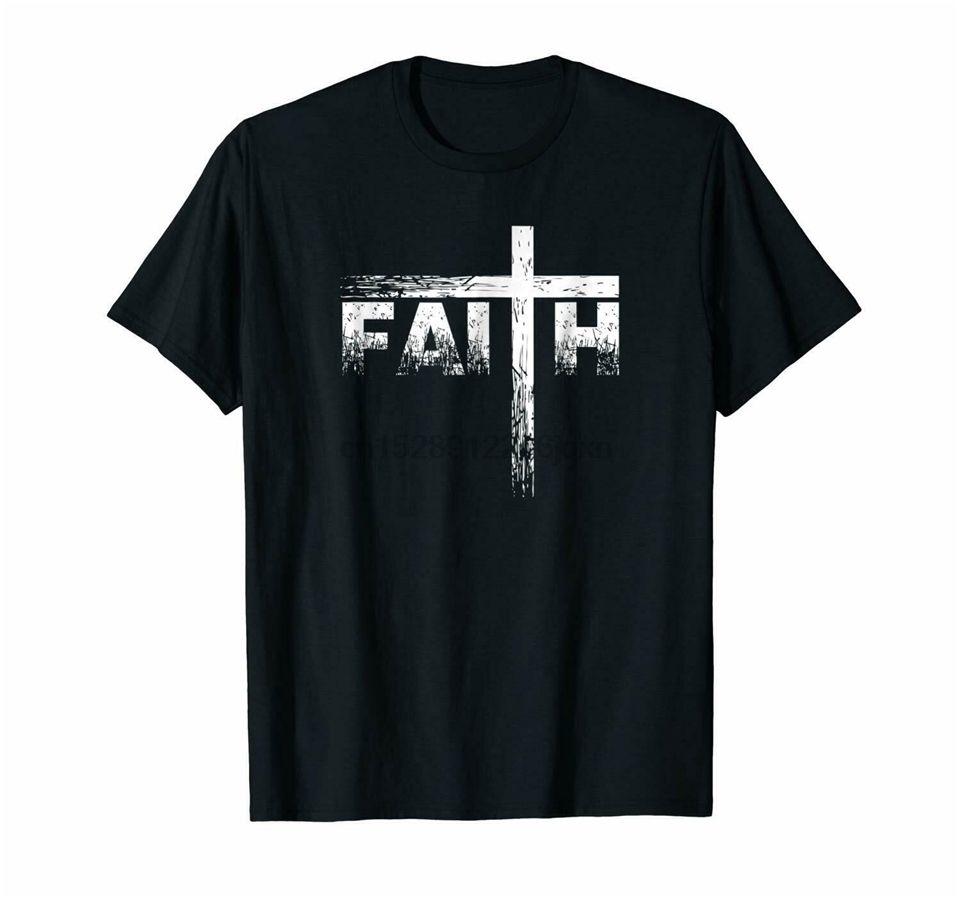 Negro Christian Faith camiseta de la cruz - Christian Fe T Shirts populares Tee Shirts 100% Cott @ En