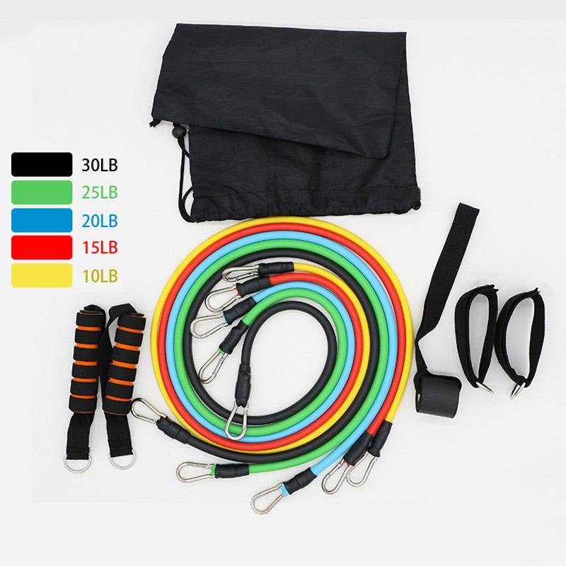 Resistance Bands 11Pcs/Set Latex Crossfit Training Exercise Yoga Tubes Pull Rope Rubber Expander Elastic Fitness Equipment
