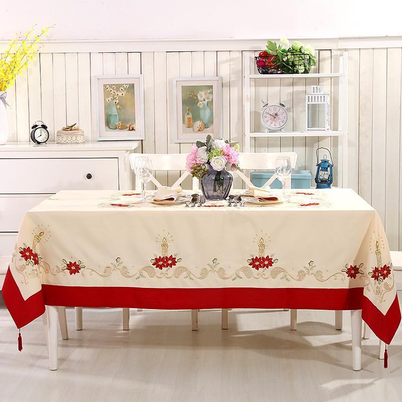Broderie Nappe de Noël et de Table 2 napperon Taille disponible La taille Big 175x265CM Y200421