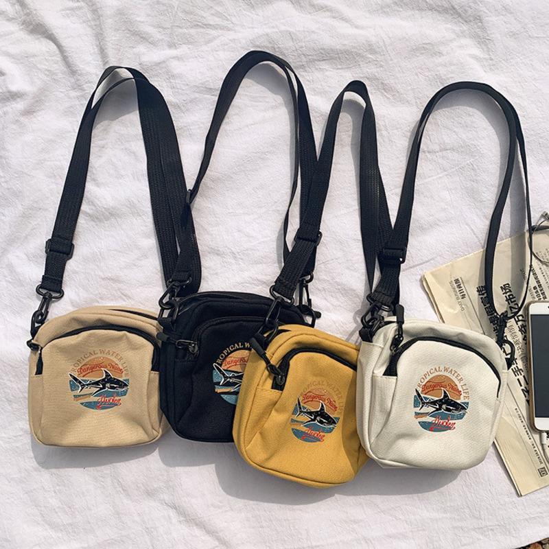 2020 Женщины Холст сумка Корейской Мини студент сумка сотового телефон мешки Простой Малый Crossbody сумка Повседневного женская сумка лоскут плечо