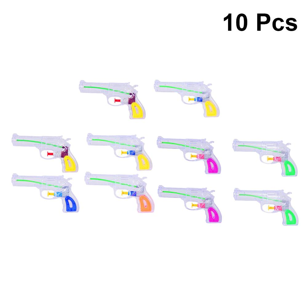 10Pcs Water Gun Assorted Color Small Mini Kids Summer Toy Water Fight Toy Squirt Water Gun for Children Kids Teens Y200728