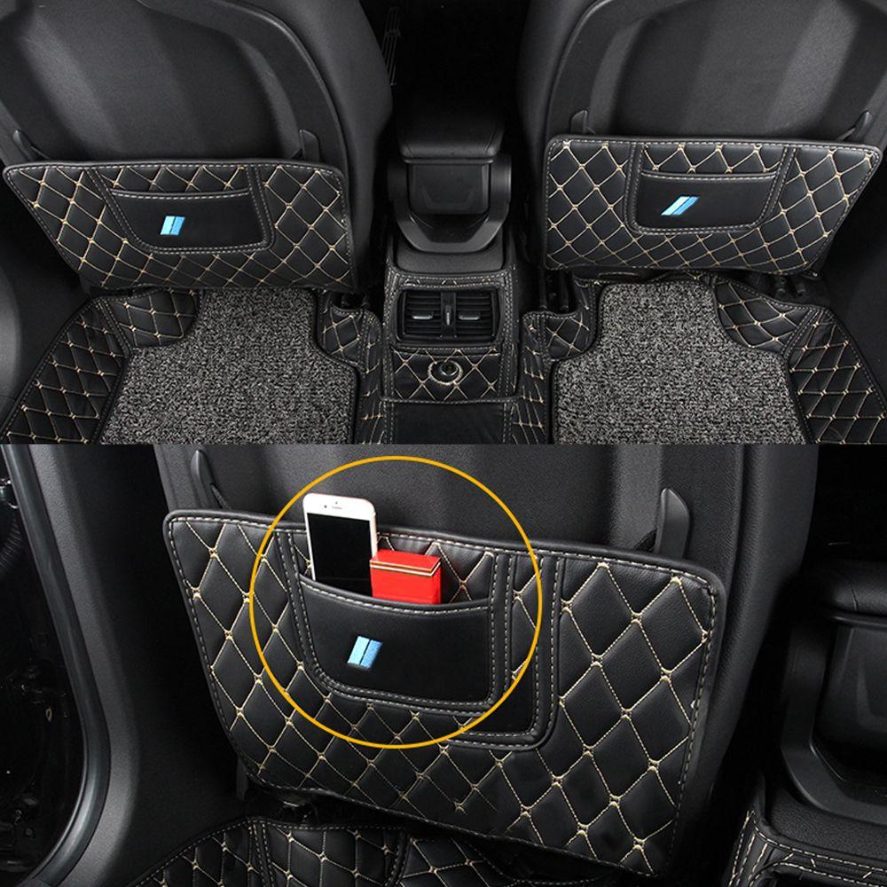 BMW X1 F48 2016-2020 Araç Bakım Koltuk Arka Koruyucu Kapak PU Deri Karşıtı vuruşu Mat Pad Yastık İç Aksesuar Dekorasyon