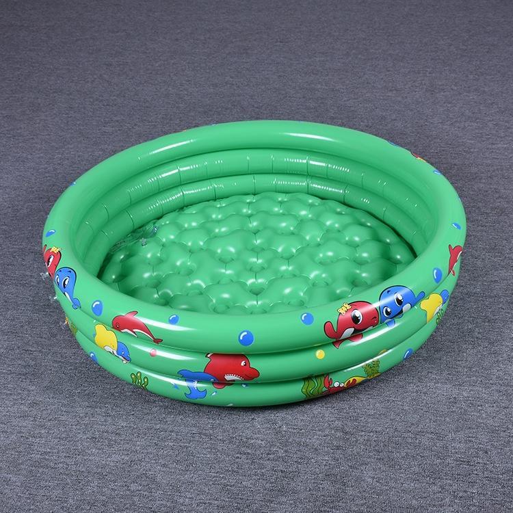 Şişme yuvarlak 90cm120cm150 oyuncak PVC üç halkası 90cm120cm150 baskılı PVC havuz şişme üç halkalı oyuncak yuvarlak havuz OP3e1 baskılı