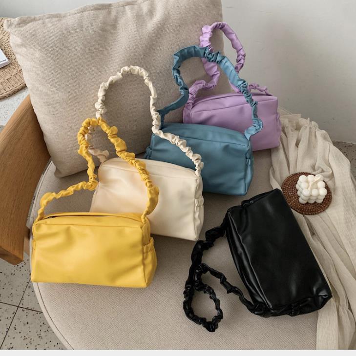 All-match Designer Bag Feminino 2020 Popular Estilo New Foreign Portátil Fold ombro único Messenger Bag