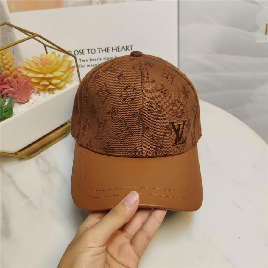 2020 step leather high version high fashion versatile autumn new baseball cap