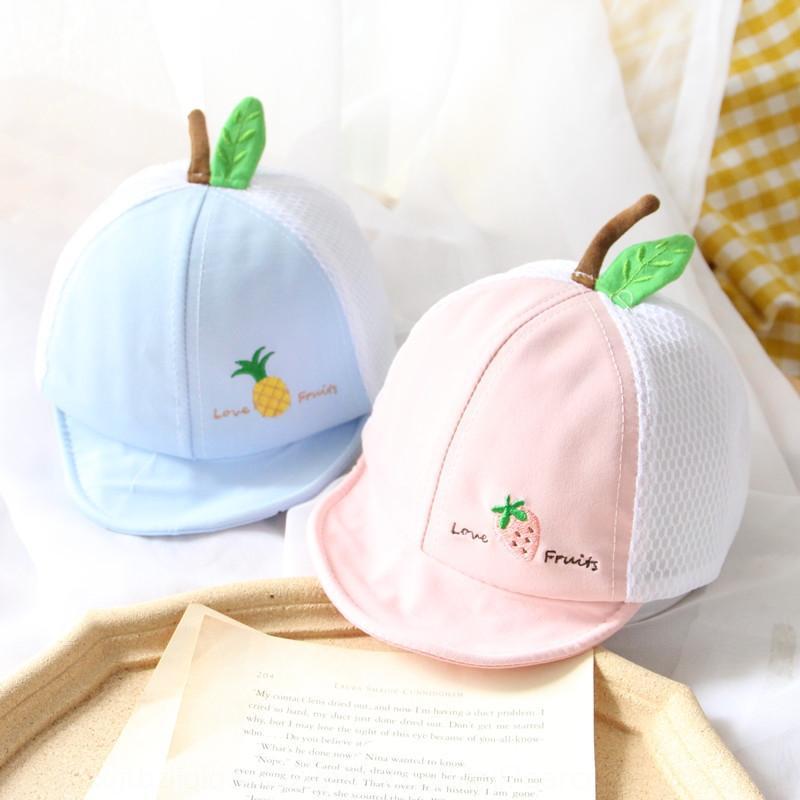 ins style simple lettre cutechildren broderie soleil fan chapeau de soleil brodé respirant chapeau net mode bébé casquette parasol