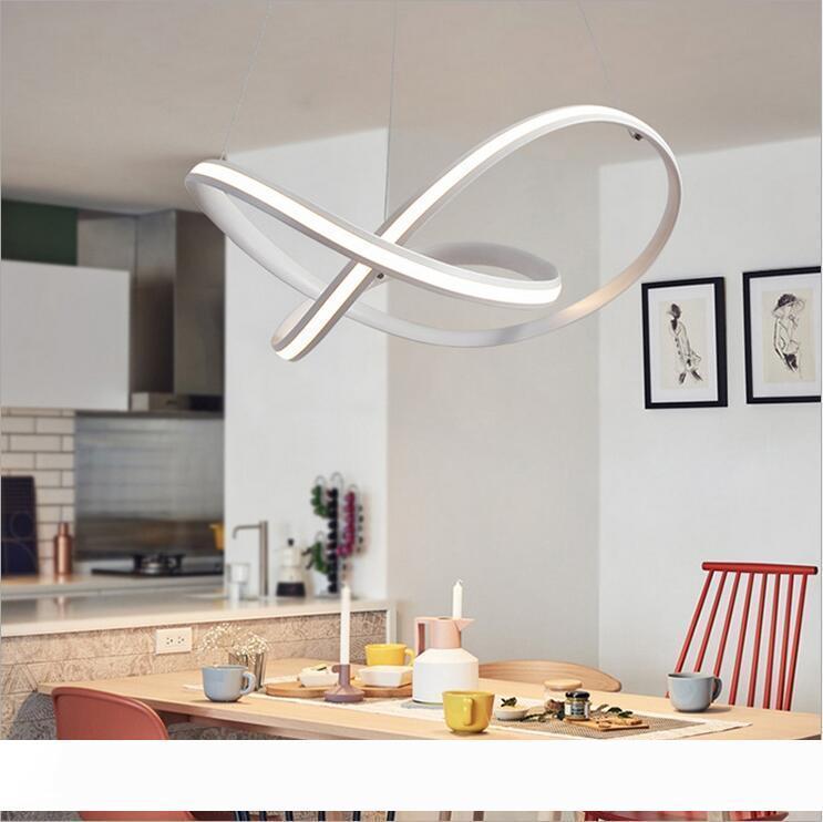 Современный минимализм водить подвеска лампа Алюминий Подвесной Люстра Внутреннее освещение Крепеж Рестораны Кухня Room Bar Lamparas Colgant
