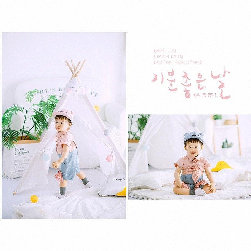 Nuovo abbigliamento mostra fotografica per 1 anno il neonato Studio Fotografia Accessori Abbigliamento per bambini Foto Germogli Puntelli Boy zeTK #