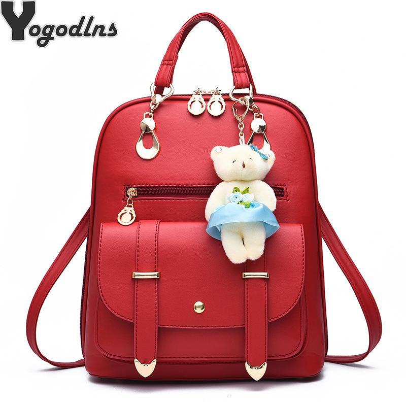 Сумки для женщин 2020 новой ретро мода молнии дамы рюкзак PU кожа высокого качества мешка школы мешка плеча для молодежи мешки CX200805