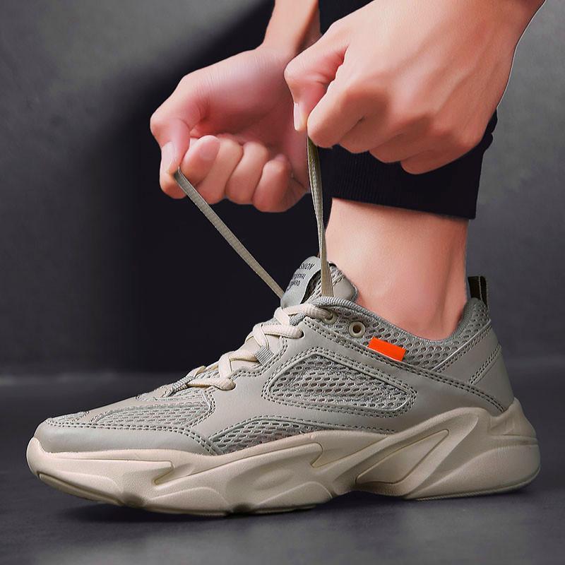 Hommes Chaussures de sport en plein air Chaussures Homme confortable Respirant Chaussures de course Chaussures antidérapants pour hommes Chaussures de marche