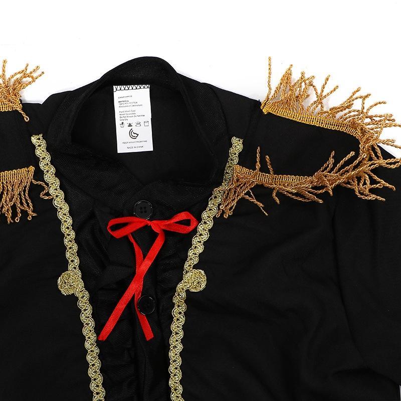 4MlLq Jungen traditionelle spanische Matador-Gruppe Weltart Kinderspielleistung Kleidung Jungen traditionelle spanische Matado Flamenco tanzen