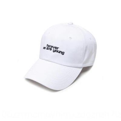 OUixg Nouveau style coréen toujours lettre printemps brodé chapeau occasionnel de baseball casquette de baseball à la mode et des hommes Sunscreen été et de femmes