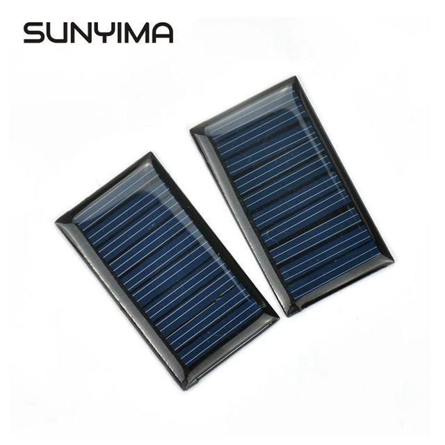 Células baratos SUNYIMA 2pcs 5V 30mA Epoxy silicone policristalino Mini painéis solares As células fotovoltaicas carregador de energia Painel de DIY Início Solar