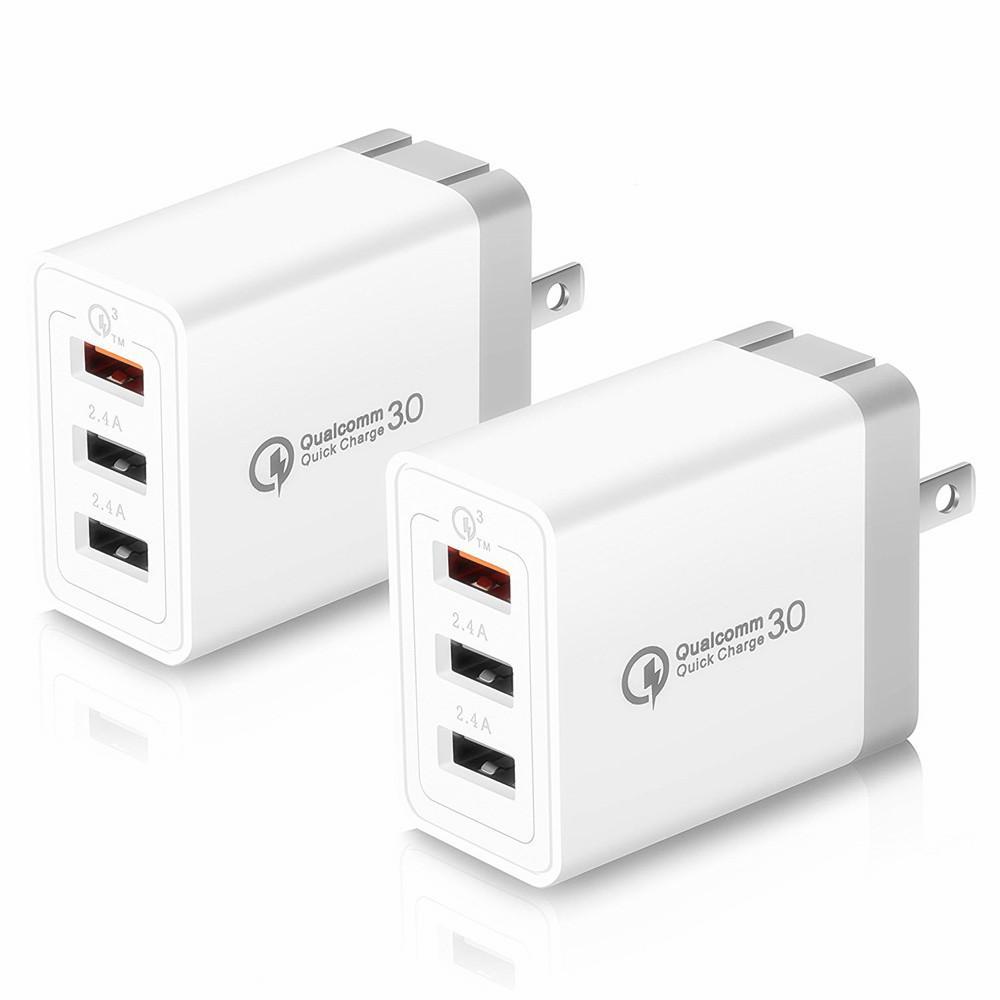 ABD, AB 3 USB bağlantı noktaları QC3.0 Hızlı Rapid Adaptif Duvar şarj cihazı Güç Adaptörü için Samsung S8 S9 S10 htc Android telefon