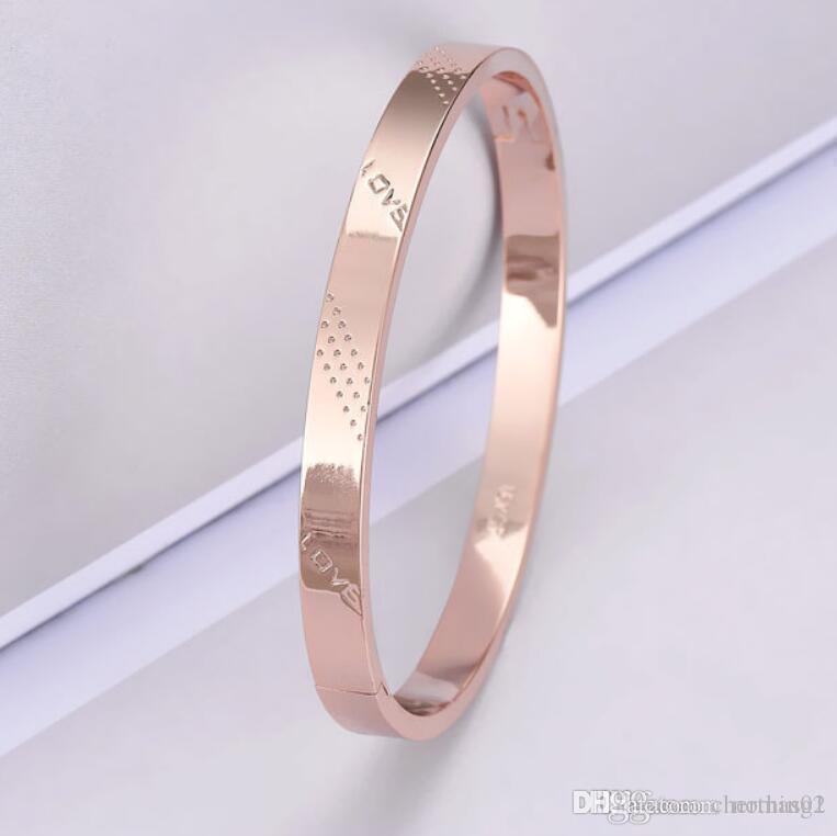 conceptrice de bijoux bracelets amant couple or rose 18 carats couleur or amour bracelets pour la mode unisexe chaud