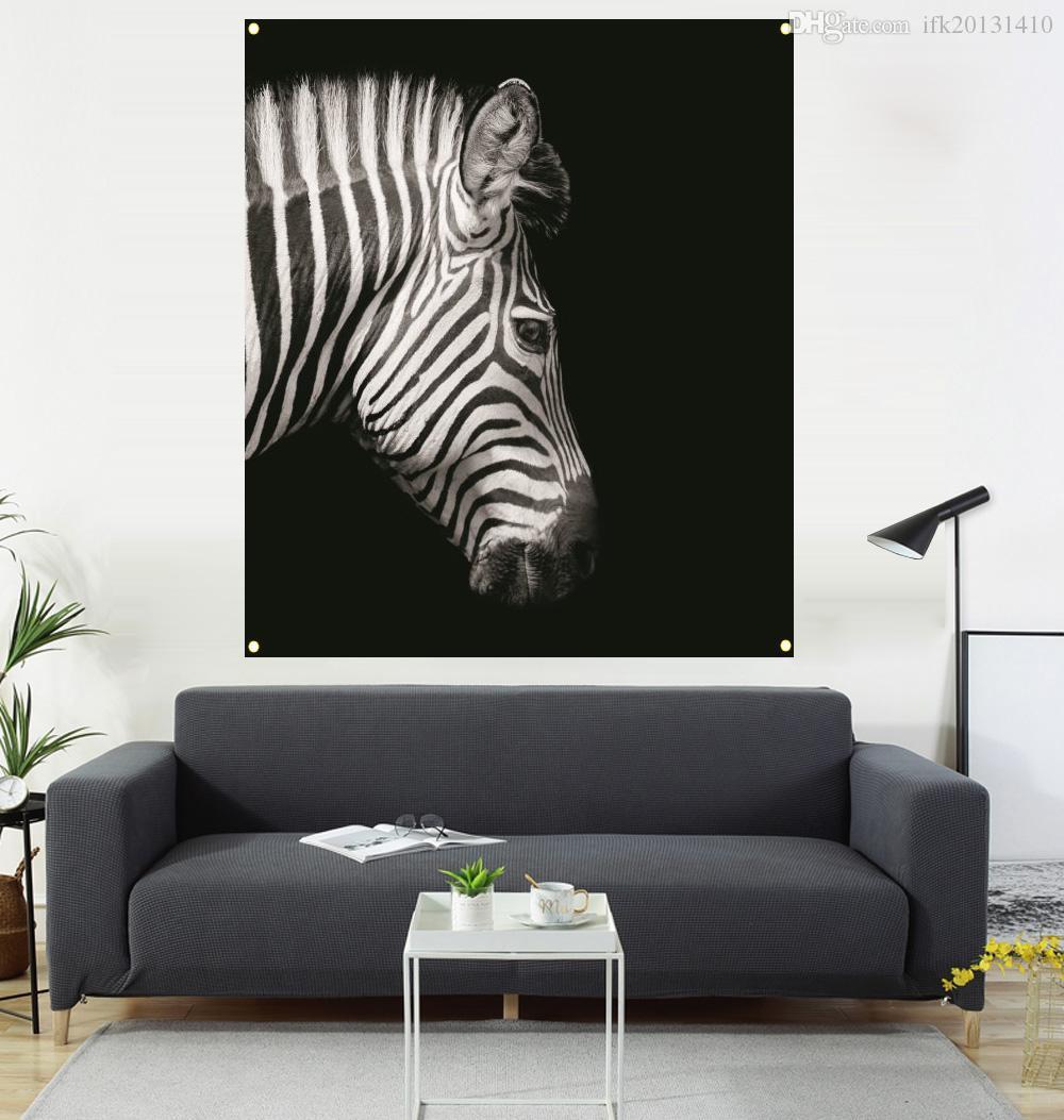 2020 zebra painting hanging flag living room decoration
