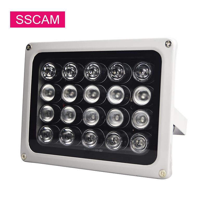AC 220V Infrared Fill Led Light 20Pcs Array 90 Degree IR Illuminatoring Lamp Led for Home Security CCTV Camera System at Evening T200629