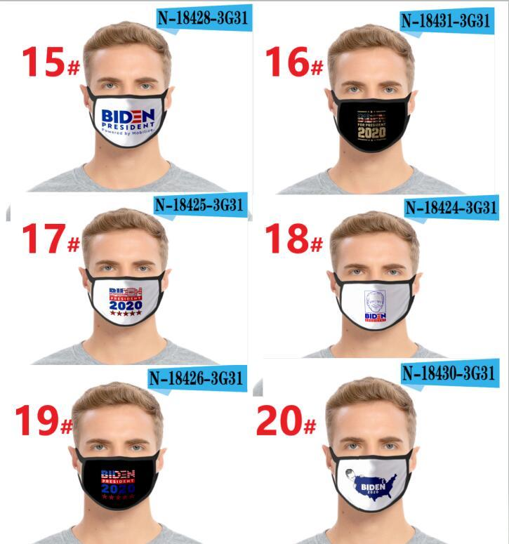 United Stampa Joe 3D 20 maschere Biden Maschera Tipi di maschera Bocca di cotone Bocca antivento Adulto Bambini Adulti Maschera Elezione Black States Hot American LJJ Lenwj
