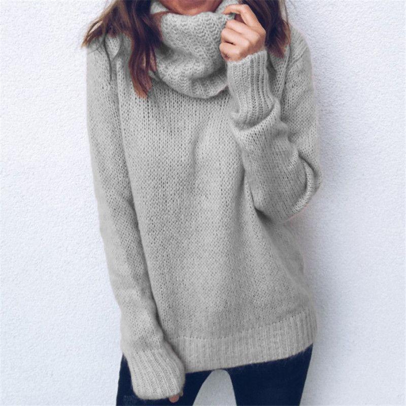 женщина черепахи шеи твердые свитера женщин осень теплые вязаные пуловеры основные внутренние топы одежду для дам девушки моды