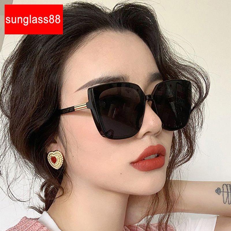 Lunettes de soleil Cateye Rétro 2020 Lunettes Qualité Femme Square Femmes / Hommes Femmes High Hommes Sunglasses Sunglasses Femmes Uarvk