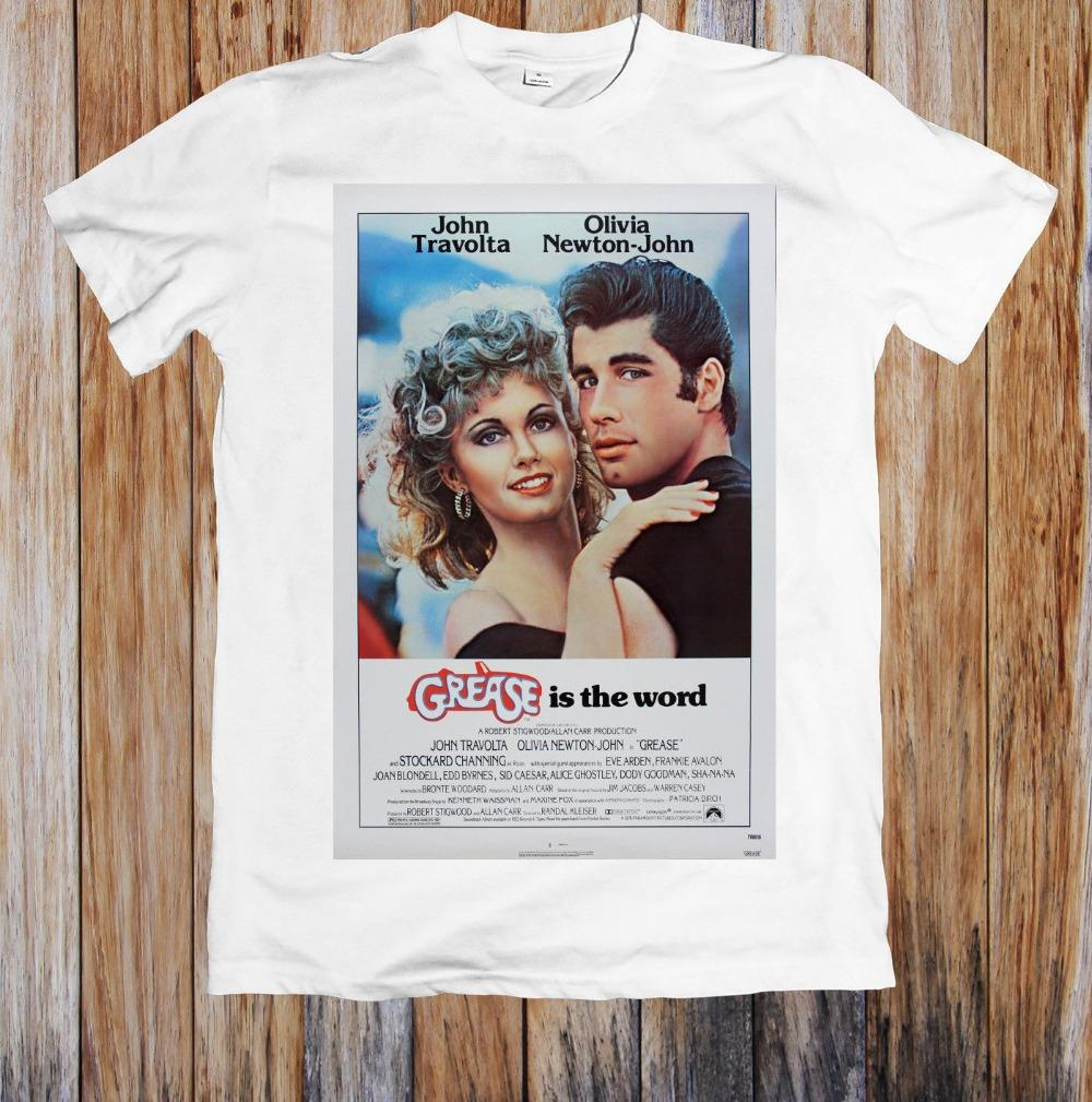 Grease 70'S Retro Movie Poster Print T-Shirt Brand 2019 New T Shirt Man 100% Cotton T-Shirt Men Camisa Cartoon T Shirts