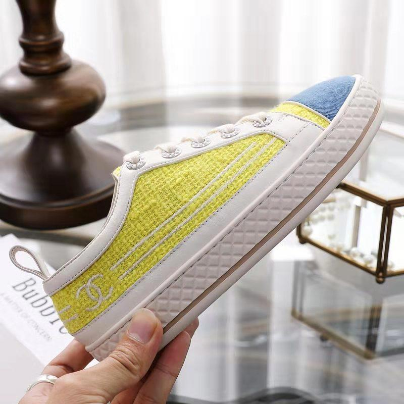 2020 Platform Casual Shoes Women Men Sneakers Shoe Leather High Quality Leisure Shoes Leather Athletic Sport Black Glitter 35-41 1001