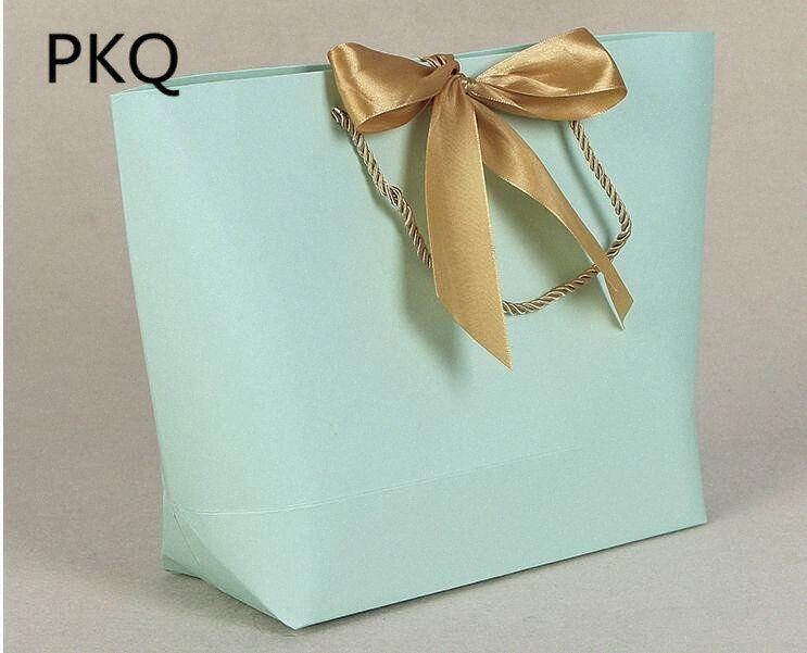 20pcs / lot Doğum / Şerit Düğün Dekorasyon 1eXa ile # Düğün Kağıt Hediye Çanta Eşarp Taşıyıcı Mevcut Çanta
